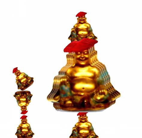 buddha in berets small pyramid